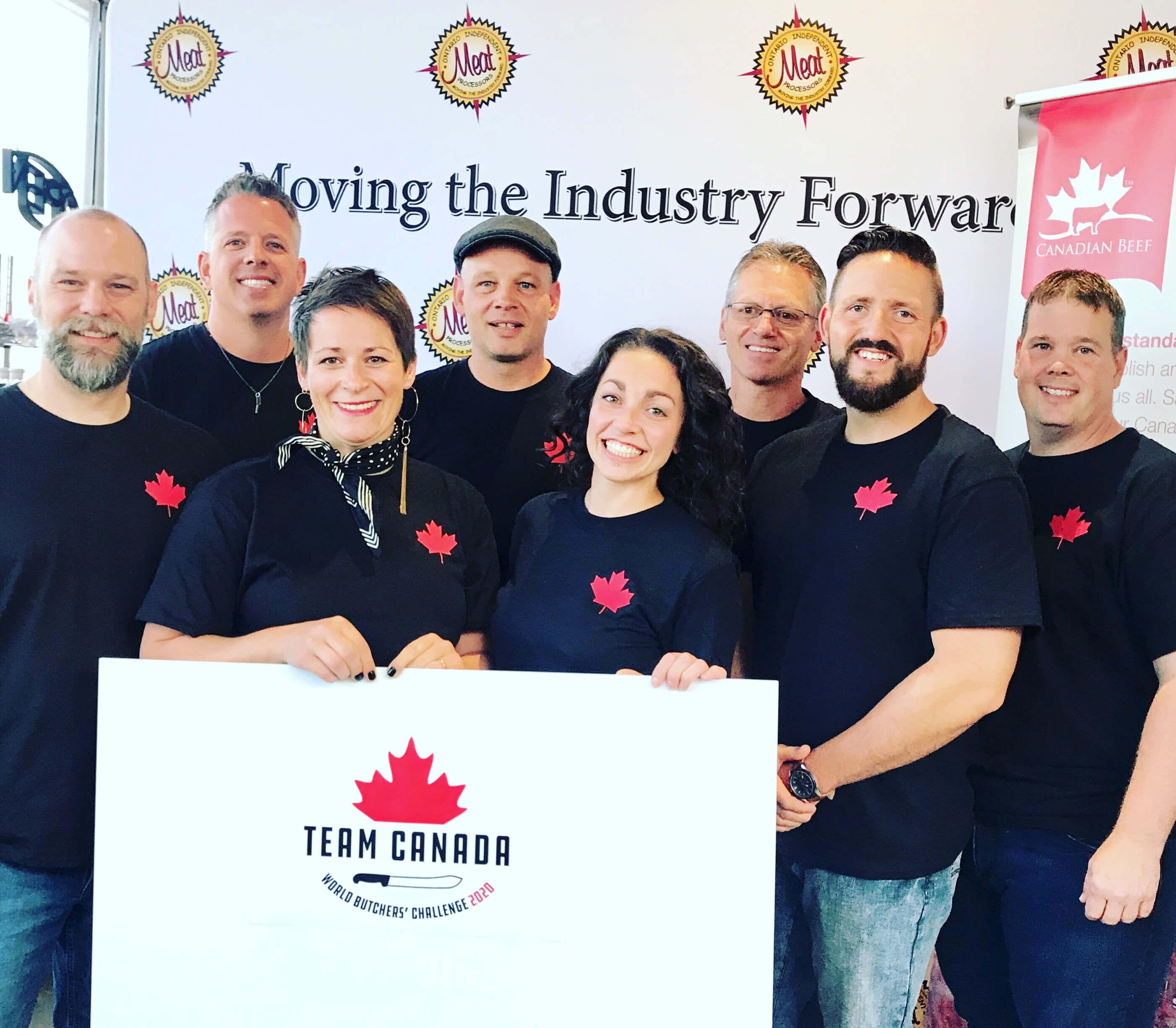 Team Canada photo (left to right): Corey Meyer, Brent Herrington, Elyse Chatterton, Peter Baarda, Taryn Lee Barker, Damian Goriup, Aaron McLaughlin, Dave Vander Velde